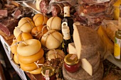 Assorted Cheeses and Meats at Ortigia Market in Siracusa Sicily