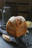 Rustic bread and butter