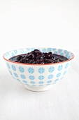 Bowl of blueberry compote