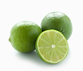Two whole limes and half a lime
