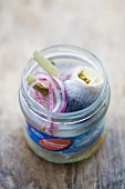 Rollmops in a jar