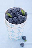 Blueberries in a cardboard cup