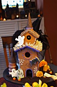 A haunted gingerbread house for Halloween