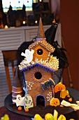 Unheimliches Lebkuchenhaus zu Halloween
