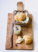 Herb rolls with herb butter