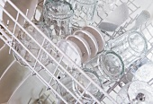 Clean glasses and bowls in dishwasher