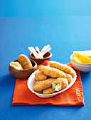 Croquettes with sweetcorn and prawns