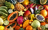 Assorted exotic fruit (filling the image)