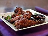 Soy Glazed Chicken Wings with Dipping Sauce