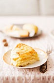 Potato gratin with apple and cheese