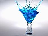 Blue Martini Splash