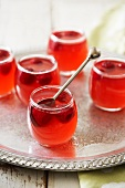 Raspberry and rose jelly