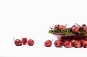 A still life of red Calville apples