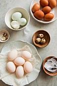 A still life of eggs