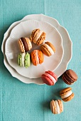 Coloured macarons