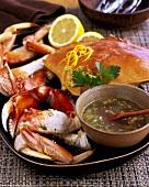 Dungeness Crab with Garlic, Lemon and Parsley Vinaigrette