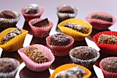 Assorted filled chocolates in colourful paper cases