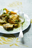 Chicken tagine with artichokes