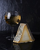 Goat's cheese and a glass of white wine