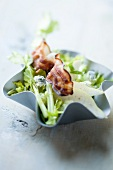 Celery salad with pears and bacon
