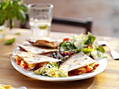 Quesadillas with cheese and tomatoes