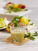 Apple and mint cocktail