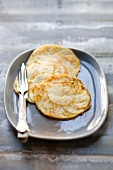 Caramelised white turnip pancakes