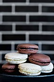 Light and dark macaroons