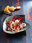 Radicchio with fennel and grapefruit