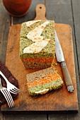 Soya, carrot and broccoli terrine