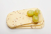 Biarom (semi-soft cheese from Upper Bavaria) with green grapes