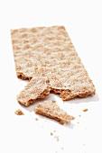 A crackerbread, broken