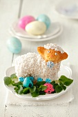 A little Easter lamb with coconut fleece