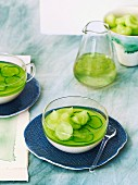 Cucumber and yoghurt jelly