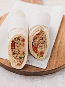 Wraps filled with tuna