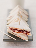 Tramezzini sandwiches with radicchio and tomatoes
