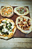 Four Assorted Wood Fired Pizzas