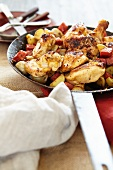 Chicken with chorizo and potatoes (Spain)