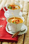 Cardoon soup with bacon and carrots