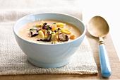 Mushroom soup with pasta