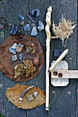 Rustic utensils for making fire