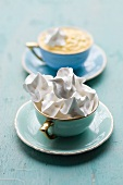 Baked meringue with passion fruit mousse