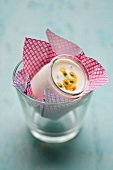 Yoghurt with passion fruit jelly