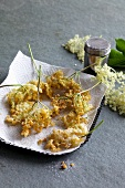Battered elderflowers