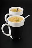 Celeriac soup with lime zest