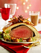 Beef tenderloin wrapped in brioche dough (Christmassy)