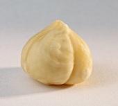 A hazelnut without skin
