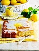 Lemon drizzle cake (England)
