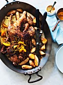 Slow-roasted duck with orange