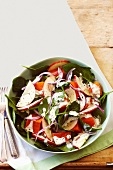 Kumara, spinach and apple salad